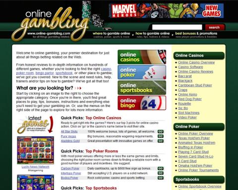 Online-Gambling.com Screenshot